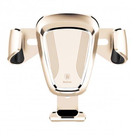 Автомобильный держатель Baseus Gravity Car Mount and Leather Type Gold (SUYL-0V)