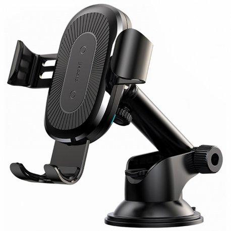 Автомобильный держатель Baseus Wireless Charger Gravity Car Mount Black (WXYL-A01)