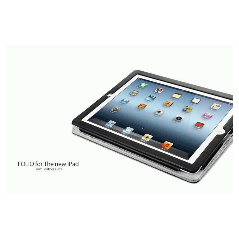 Чехол для ipad 3 New/iPad 2 SGP Folio Series Leather Case Black