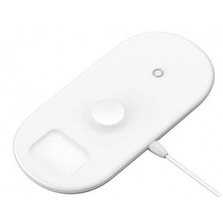Беспроводное зарядное устройство Baseus Wireless Charger 3in1 For iPhone+iWatch+AirPods White (WX3IN1-02)
