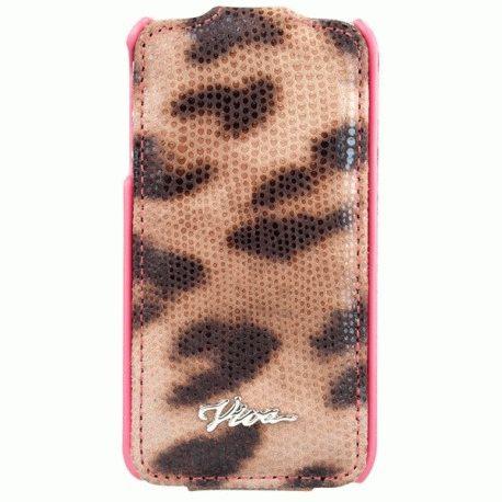Чехол Viva iPhone 4/4S FlipCaso Lujo Leopardo Tawny Orange