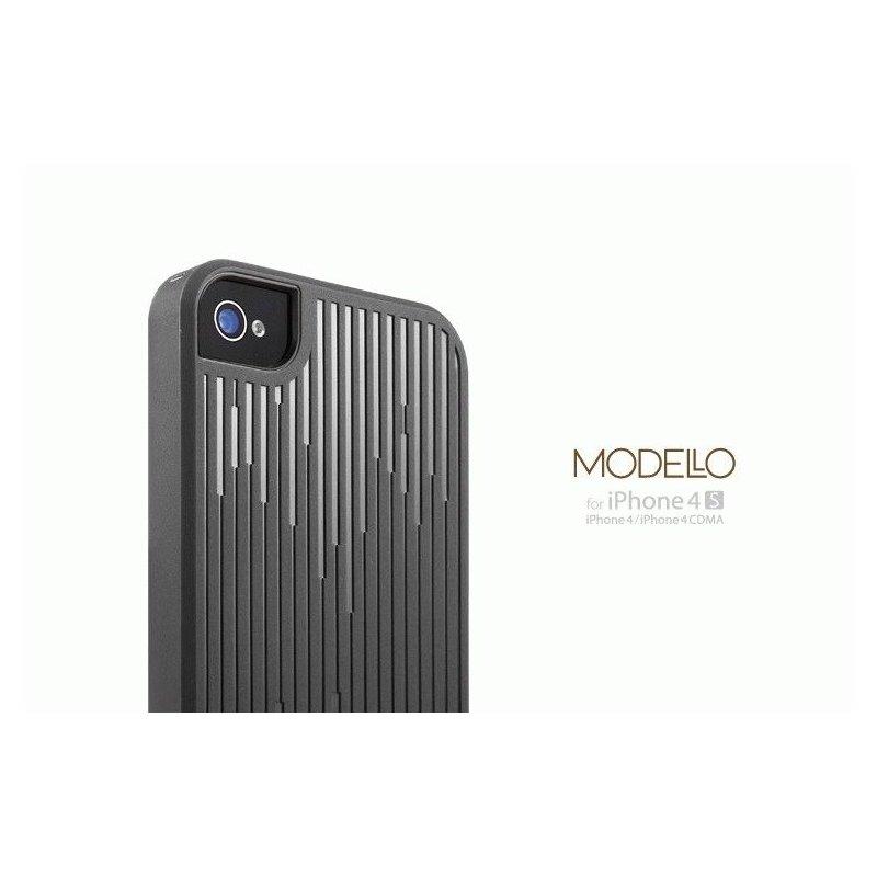 SGP iPhone 4/4s Case Modello Series Charcoal Grey серый