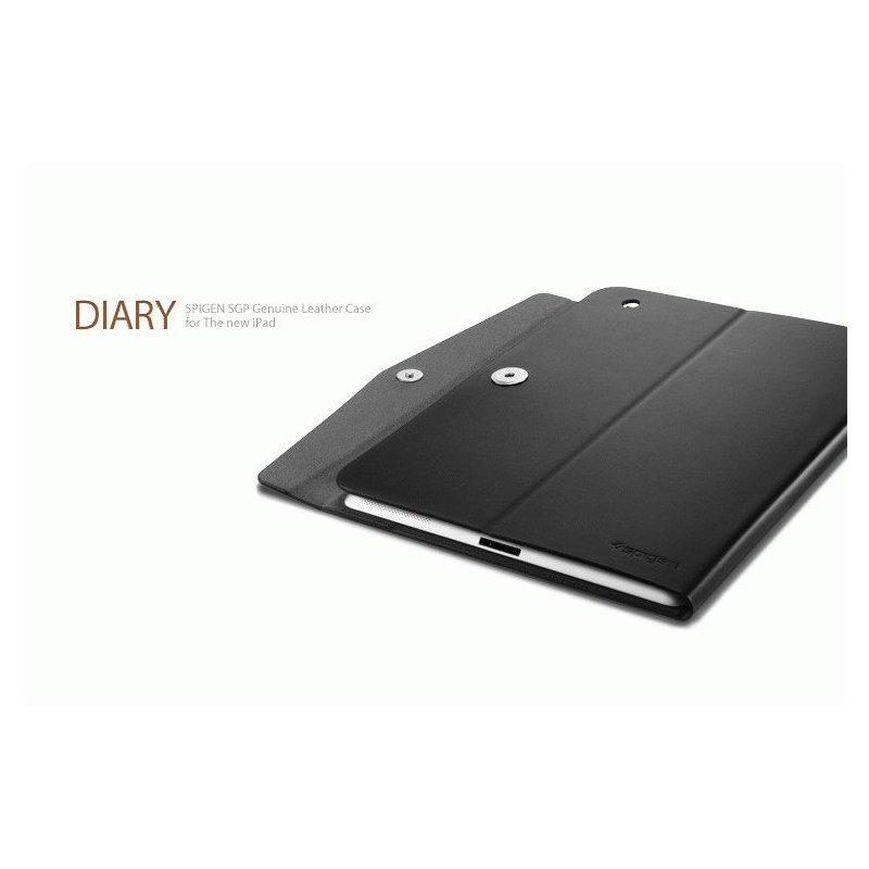 Чехол для ipad 3 New/iPad 2 SGP Diary Series Leather Case Black