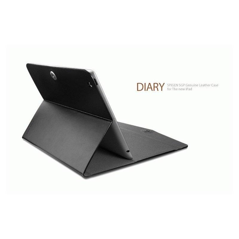 Чехол для ipad 3 New/iPad 2 SGP Diary Series Leather Case Black