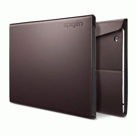 Чехол для ipad 3 New/iPad 2 SGP Diary Series Leather Case Dark Brown