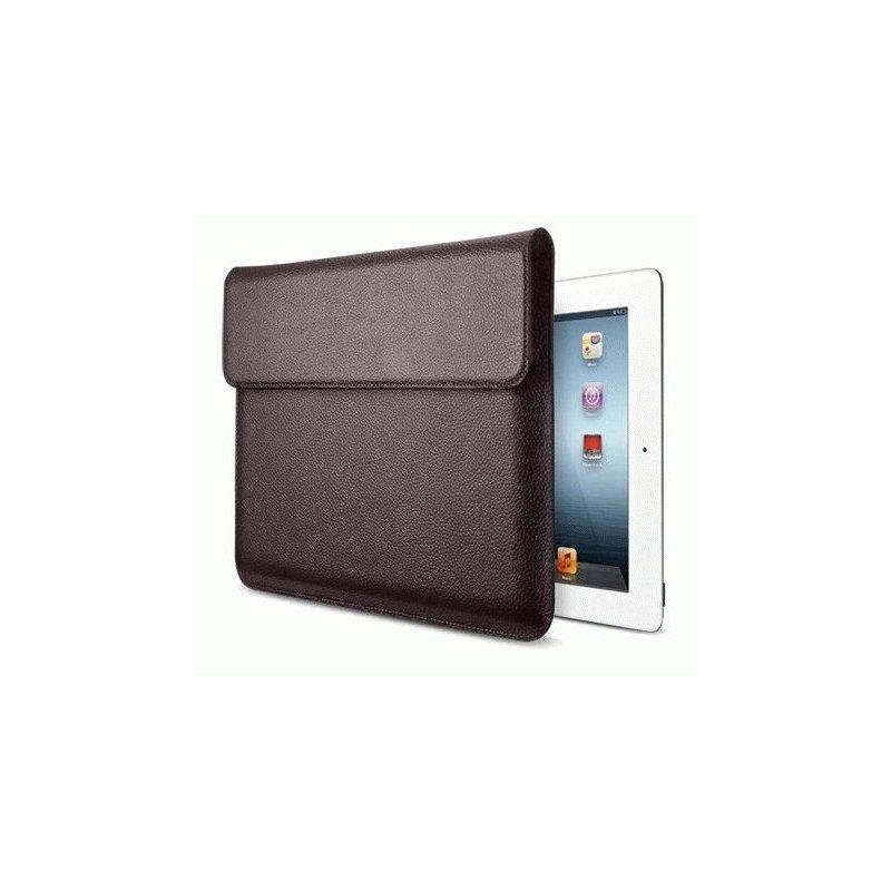 Чехол SGP Sleeve Series Leather Case Dark Brown для iPad 3 New/iPad 2