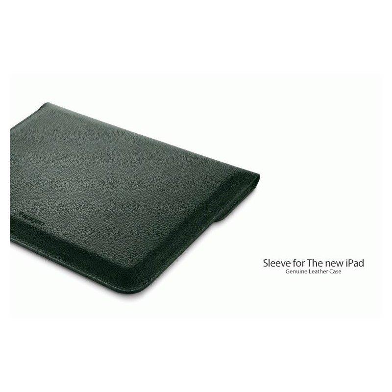 Чехол SGP Sleeve Series Leather Case Dark Green для iPad 3 New/iPad 2