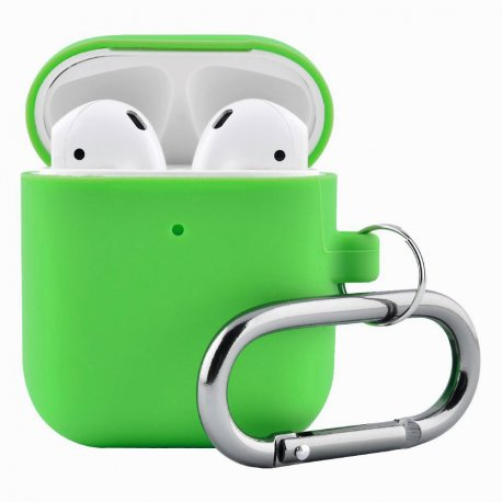 Чехол Wireless Silicone Case для Apple AirPods 2 with Carbine Cosmos Green