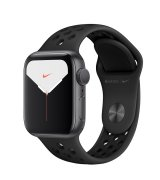 Apple Watch Series 5 40mm (GPS) Space Gray Aluminum Case with Nike Space Gray Sport Band (MWT72)