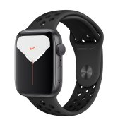 Apple Watch Series 5 44mm (GPS) Space Gray Aluminum Case with Nike Space Gray Sport Band (MWT72)
