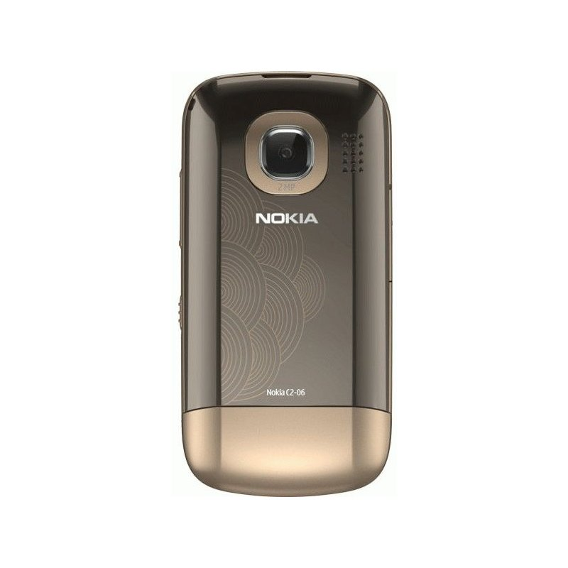 Nokia C2-06 Touch and Type Dual SIM Golden Buff