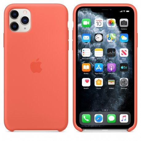 Чехол Apple iPhone 11 Pro Max Silicone Case Clementine (Orange) (MX022)