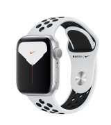 Apple Watch Series 5 40mm (GPS) Silver Aluminum Case with Nike White Sport Band (MX3R2)