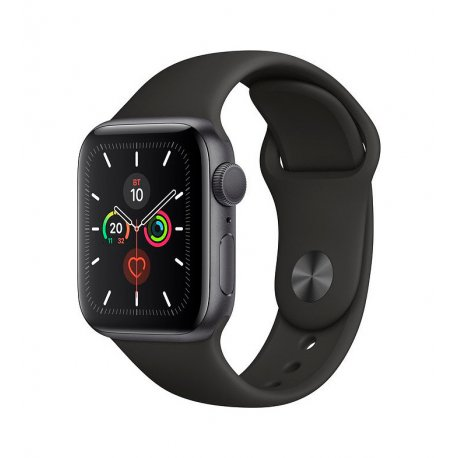 Apple Watch Series 5 40mm (GPS) Space Gray Aluminum Case with Black Sport Band (MWV82)