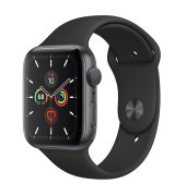 Apple Watch Series 5 44mm (GPS) Space Gray Aluminum Case with Black Sport Band (MWVF2)