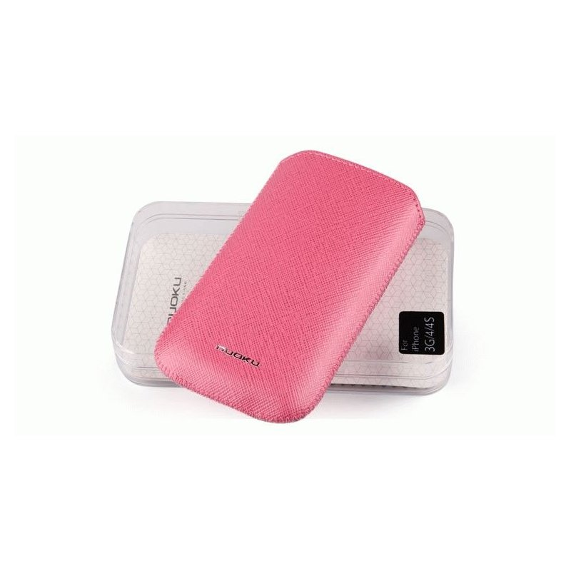 Чехол для iPhone 4/4s/3gs Nuoku Slim Pink