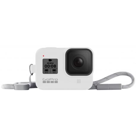 Чехол + ремешок Sleeve & Lanyard для GoPro HERO8 (AJSST-002) White