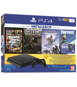 Sony PlayStation 4 Slim 1TB + GTA 5 + Days Gone + Horizon Zero Dawn + PSPlus 3 месяца