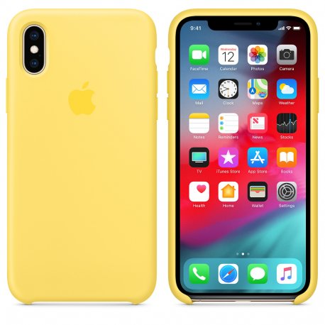 Чехол Apple iPhone XS Silicone Case Canary Yellow (MW992)