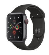 Apple Watch Series 5 44mm (GPS+LTE) Space Gray Aluminum Case with Space Gray Sport Band (MWW12)
