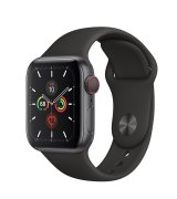 Apple Watch Series 5 40mm (GPS+LTE) Space Gray Aluminum Case with Space Gray Sport Band (MWWQ2)