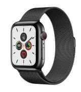 Apple Watch Series 5 44mm (GPS+LTE) Space Black Stainless Steel Case with Space Black Milanese Loop (MWWL2/MWW82)
