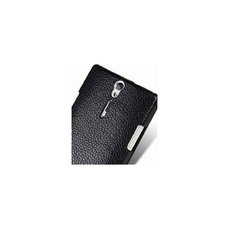 Кожаный чехол Melkco Flip (JT) для Sony Xperia S LT26i