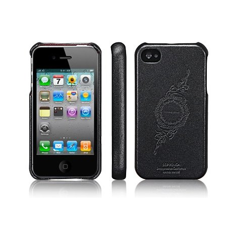 SGP Genuine Leather Grip infinity Black for iPhone 4/4s