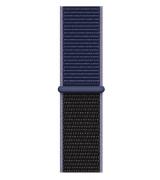 Спортивный ремешок Sport Loop Band для Apple Watch 38/40mm Midnight Blue/Black