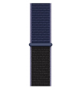 Спортивный ремешок Sport Loop Band для Apple Watch 42/44mm Midnight Blue/Black