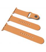 Спортивный ремешок Sport Band для Apple Watch 42/44mm S/M&M/L 3pcs Papaya