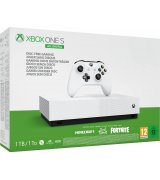 Microsoft Xbox One S 1Tb White All-Digital Edition + Minecraft + Sea of Thieves + Fornite