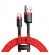 Кабель Baseus Cafule Cable USB for Type-C 3A 1M Red (CATKLF-B09)