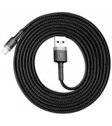 Кабель Baseus USB to Lightning Cable 1.5A (2m) Gray-Black (CALKLF-CG1)