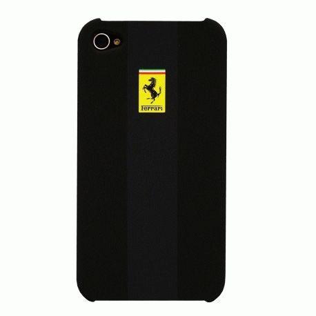CG Ferrari Rubber накладка для iPhone 4/4S Black