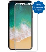 Защитное стекло Ilera Eclat Full Cover для Apple IPhone X White (EclGl111XWt3DBA) (No box)