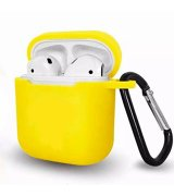 Silicone Case with Carbine для Airpods 2 Yellow