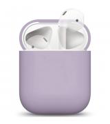 Wireless Case Ultra Slim Silicone для Airpods 2 Lavender Gray