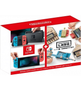 Nintendo Switch V2 with Neon Red and Neon Blue Joy-Con + Nintendo Labo Variety Kit