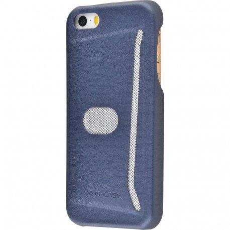 Чехол G-Case Jazz Series with Card Slot для Apple IPhone 5/5S Blue