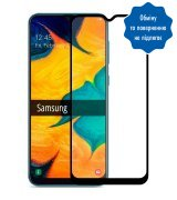 Защитное стекло 5D для Samsung Galaxy A20 Black