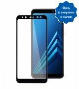 Защитное стекло 5D для Samsung Galaxy A8 Black