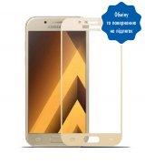 Защитное стекло 5D для Samsung Galaxy A3 Gold