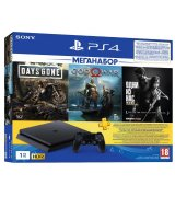 Sony PlayStation 4 Slim 1TB + Days Gone + God of War + The Last of Us + PSPlus 3 месяца