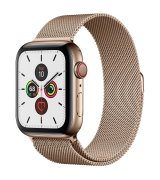 Apple Watch Series 5 44mm (GPS+LTE) Gold Stainless Steel Case with Gold Milanese Loop (MWWJ2/MWW62)