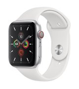 Apple Watch Series 5 44mm (GPS+LTE) Silver Aluminum Case with White Sport Band (MWVY2/MWWC2)