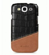 Кожаная накладка Melkco MIX and MATCH для Samsung Galaxy SIII i9300 Black - Brown