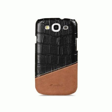 Кожаная накладка Melkco MIX and MATCH для Samsung Galaxy SIII i9300 Black - Brown