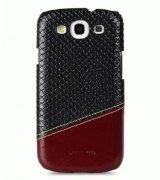 Кожаная накладка Melkco MIX and MATCH для Samsung Galaxy SIII i9300 Black - Red