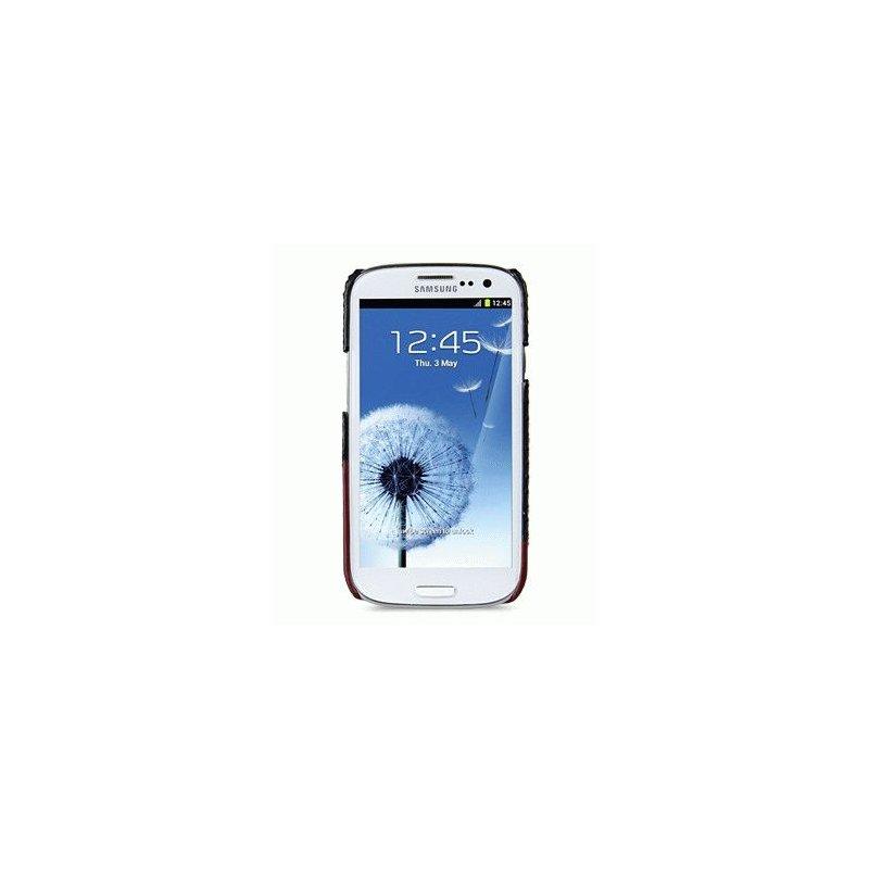 Кожаная накладка Melkco MIX and MATCH для Samsung Galaxy SIII i9300 Black - Red